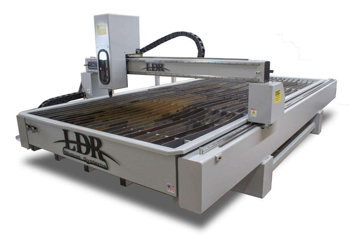Industrial CNC Plasma Table - Top Front View