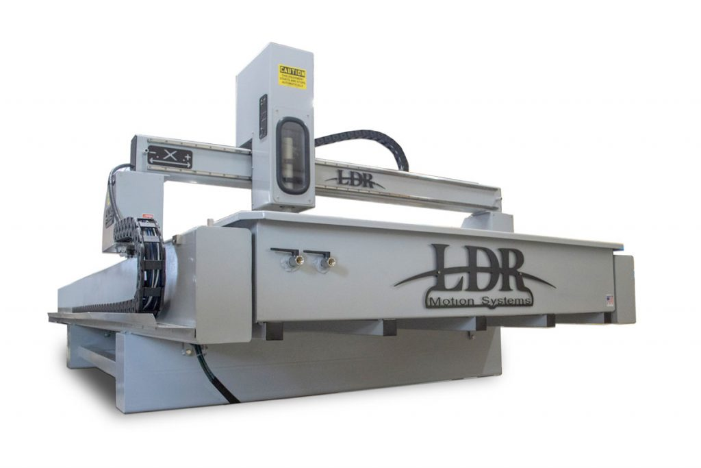Industrial CNC Plasma Table - Front View with Air Attachments