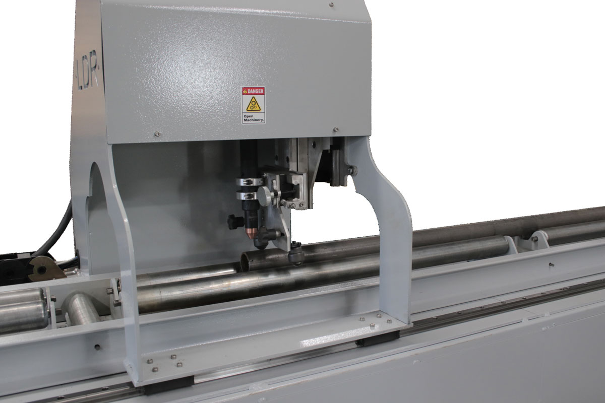 Oversize CNC Pipe Cutter - Torch and Pipe Close Up