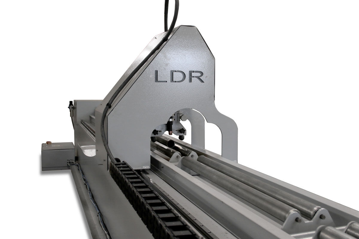 Oversize CNC Pipe Cutter - Back View Cutter Torch