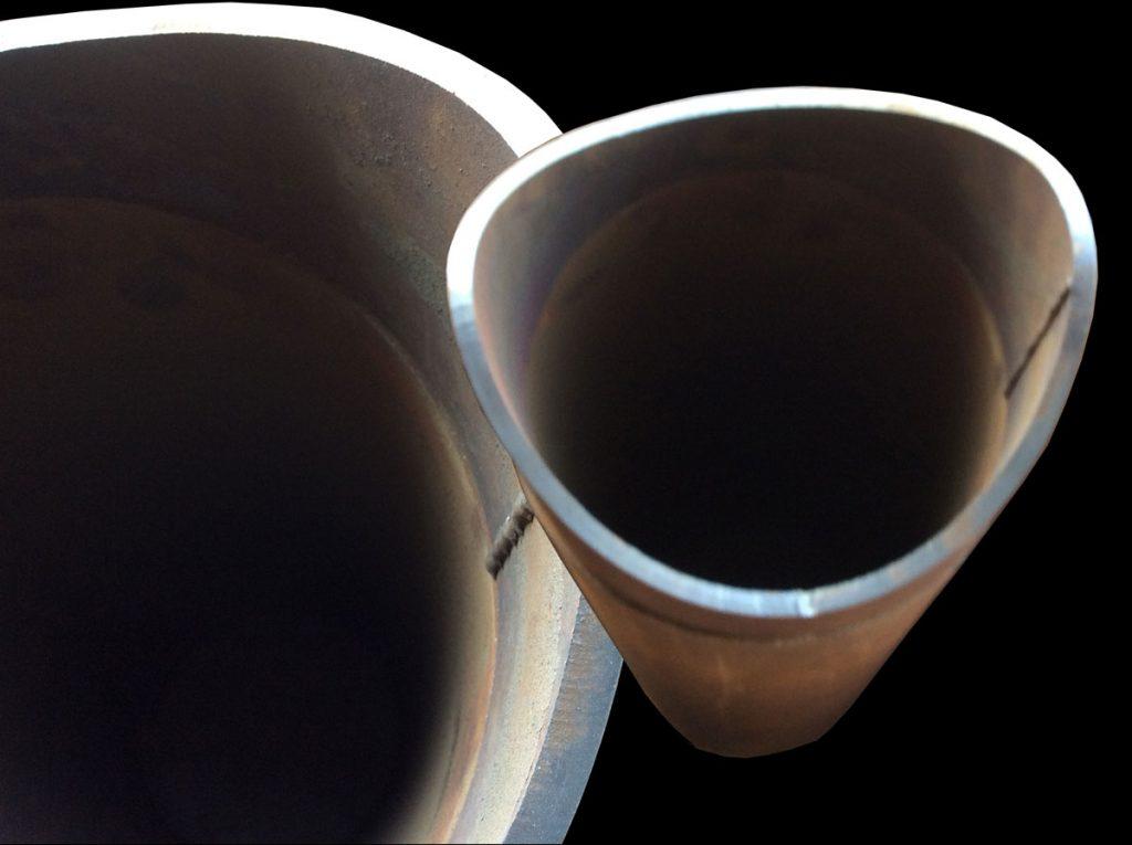 CNC Plasma Pipe Cutter - Sample Cuts - Pipe Bevel
